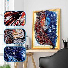 DIY lion diamond painting head animals dimaond embroidery full drill 5D mosaic round