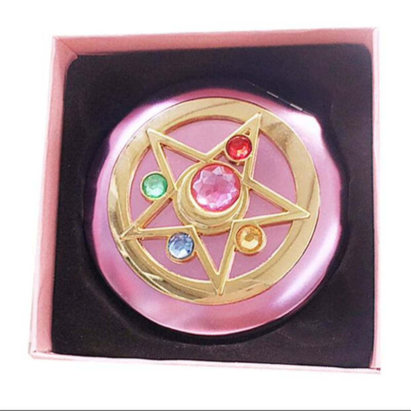 Cartoon Anime Sailor Moon Periphery Transforming Mirror Personality Girl Portable Makeup Mirror Small Mirror Gift