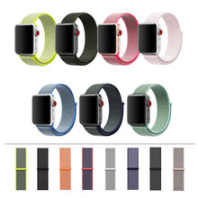 2017 Flash Sport Loop for Apple Watch Band 42mm 38mm Soft Breathable Woven Nylon for Apple Watch Sport Loop Band Series 3/2/1