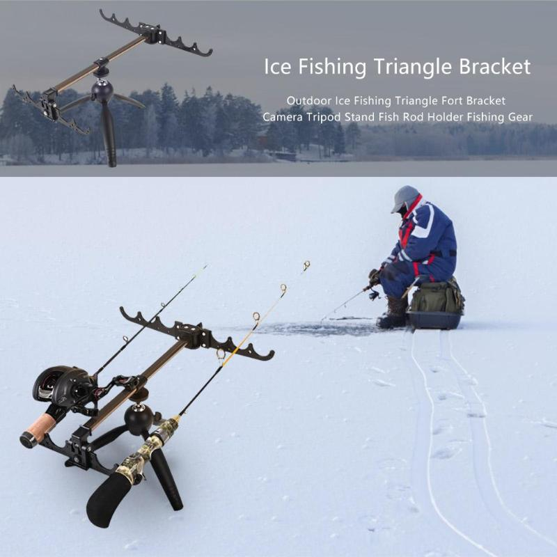 Adjustable Carp Ice Fishing Rod Stand Holder Fishing Pole Triangle Bracket Tripod Fishing Tackle Accessory Pesca