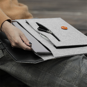 Image 5 - Fashion Wool Felt Laptop Sleeve Bag Notebook Handbag Case For Macbook Air Pro Retina 11 12 13 15 Lenovo Asus HP Laptop Liner Bag