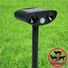 Ультразвуковой отпугиватель животных для кошек, собака, лисица, отсоединяющийся, репеллент, водонепроницаемый, солнечный, Отпугиватель вредителей, держать животных подальше