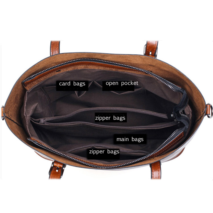 SAICHENG Leather Women's Handbags Luxury Handbags Women Bags Designer Solid Women Bag Ladies Shoulder Bags Big Crossboday Bag