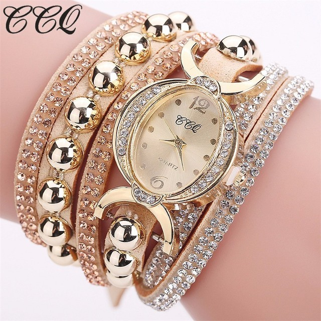 Dropshipping Women Rhinestone Bracelet Watch Luxury Women Crystal Wristwatches Q