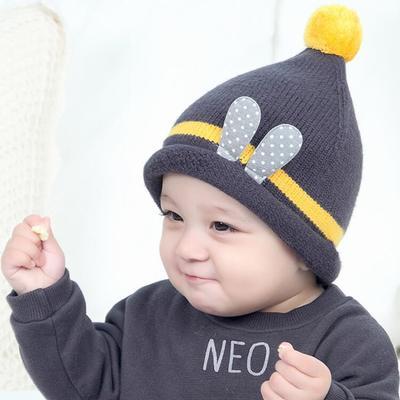 Autumn and winter children 6-12 months baby hat boy baby plus velvet  earmuffs hat 2f0bc965d94