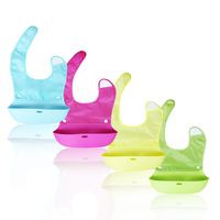 Kids Waterproof Silicone Bibs Eat Pocket Saliva Towel Kids Children Waterproof Aprons Baby Bibs Large Size