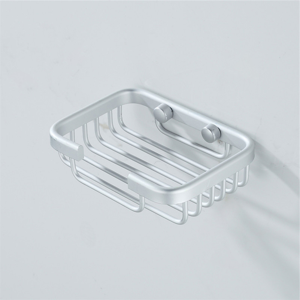 Stainless Steel Wall Mounted Shower Soap Holder Bathroom Storage Box Container Soap Dish Basket Tray Rack 130*90*40mm