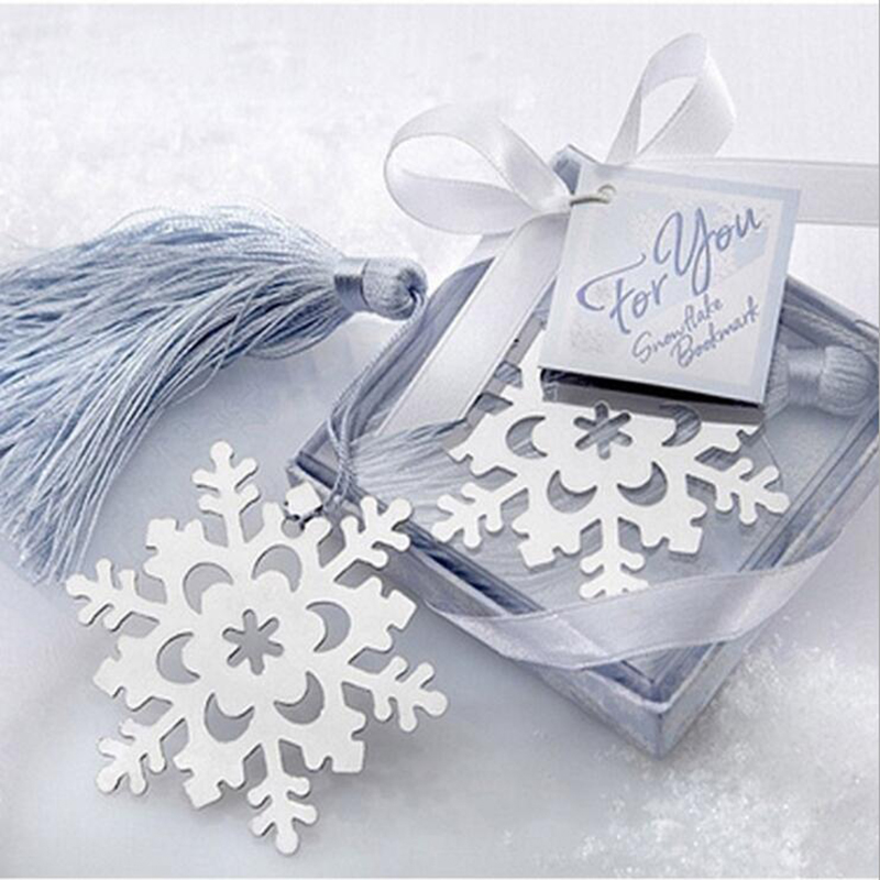 1pc Beautiful Creative Snowflake Bookmarks Christmas Activities Gifts Metallic Bookmarks Business Gifts Children Cute Stationery