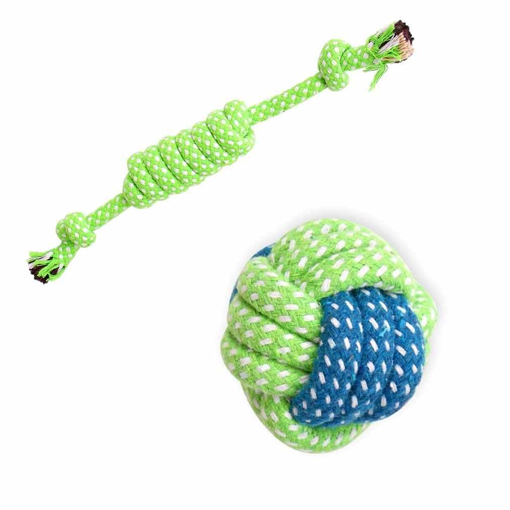 สัตว์เลี้ยงของเล่นสุนัข Chews ลูกกลิ้งเชือกลูกบอล Knot Teeth Odontoprisis สัตว์เลี้ยงของเล่นสุนัขกัดเชือก Universal อุปกรณ์สำหรับสัตว์เลี้ยง