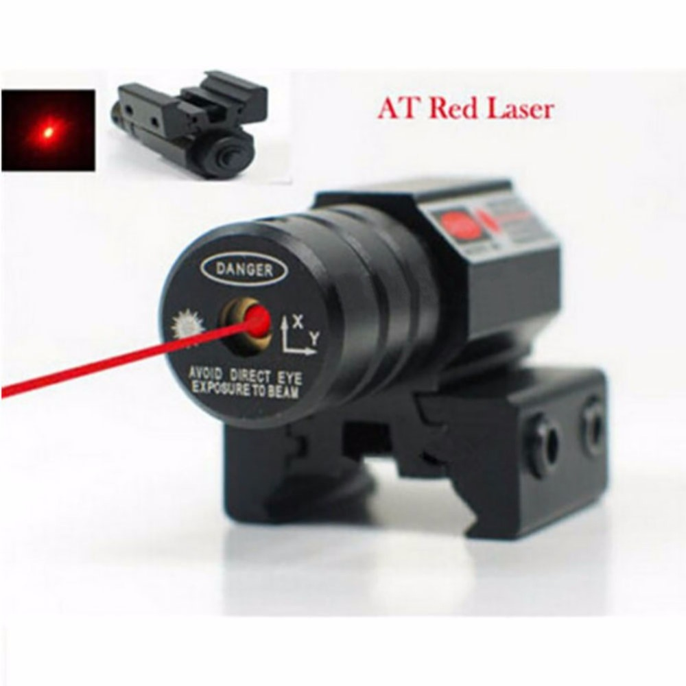 Alcance de 50-100 metros 635-655nm Red Dot Laser Sight Pistol Adjust 11mm & 20mm Picatinny Rail
