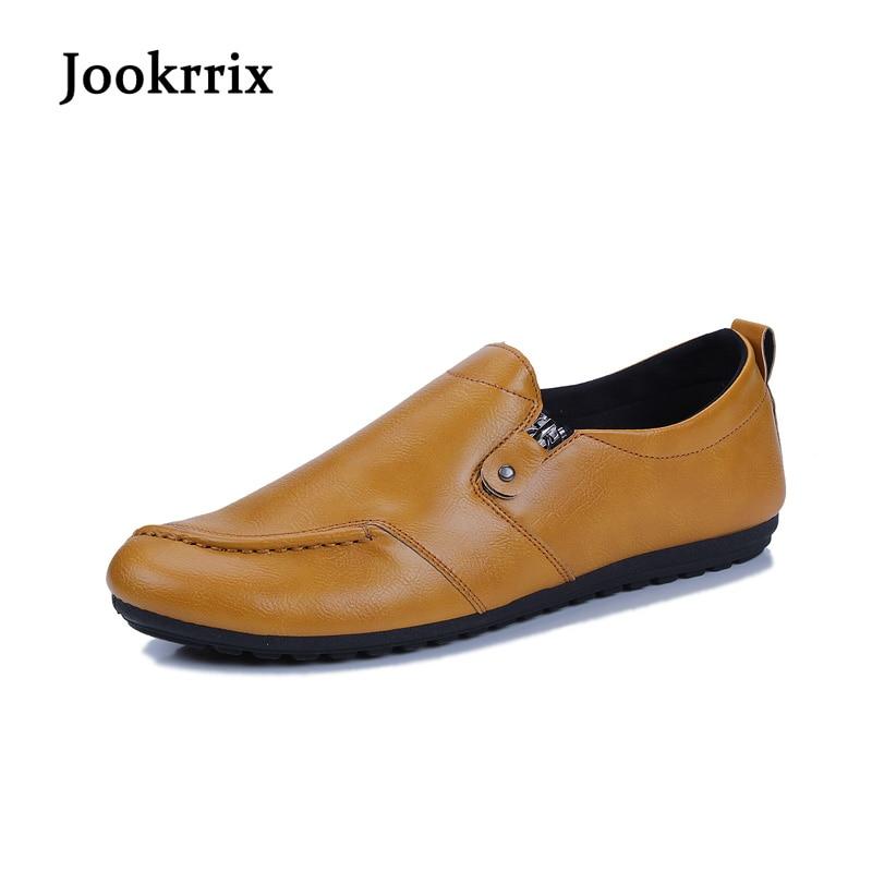 Jookrrix 2018 New Spring Fashion Brand Leisure Shoes Men Classic Shoe Black Good Quality Zipper Male Casual Driving Shoes Soft