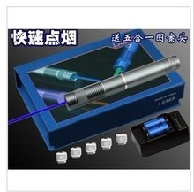 Wholesale prices high power blue laser pointer 300000mw 300w 450nm burning match/dry wood/candle/black/burn cigarettes+5 caps+changer+gift box