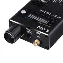 2018 популярный беспроводной детектор мобильного телефона, черный Полнодиапазонный сигнал, анти детектор шпиона, Wi Fi, RF, GSM устройство, вилка США/ЕС, 1 8000 МГц, G319