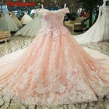 00320 Pink Sweet-heart Evening Dress Applique Flowers Gown
