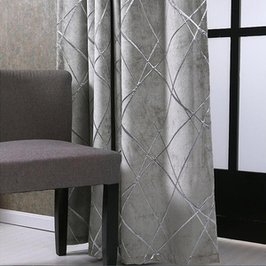 Image 1 - Blackout Jacquard Fabric for Curtains for the Living room Custom Size Ivory Grey Tan American Style the Curtains On the Window