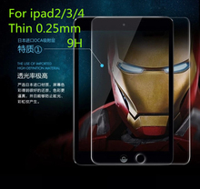 цена на High Quality Tempered Glass  LCD Screen Protector Protective guards Films Cover for mew ipad 2/3/4 With Package&Clean Cloth