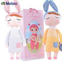 1 Pc Metoo Soft Health Plush Rabbit Baby Dolls With Gift Bag Kids Toys For Children