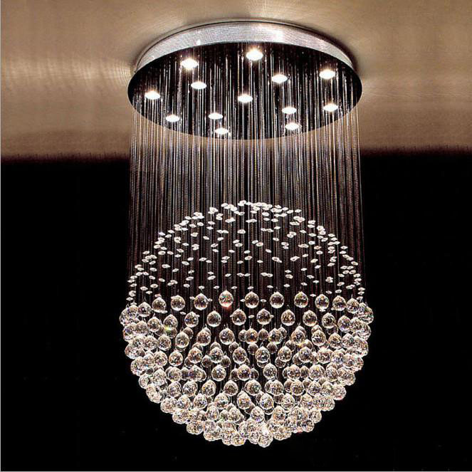 Modern K9 crystal ceiling light 12pcs Gu10 bulb Luxury crystal led Goble lamps entry stair light sitting room LED lighting