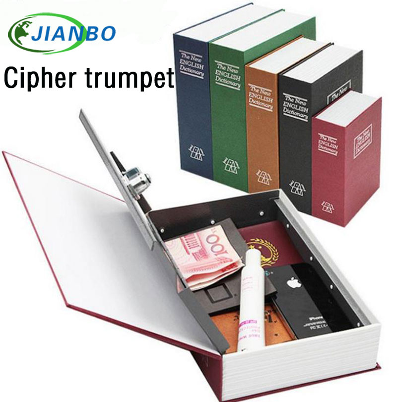Trumpet Storage Safe Box Dictionary Book Bank Money Cash Jewellery Hidden Secret Security Locker With Key Lock Factory Sales cobuild intermediate learner's dictionary
