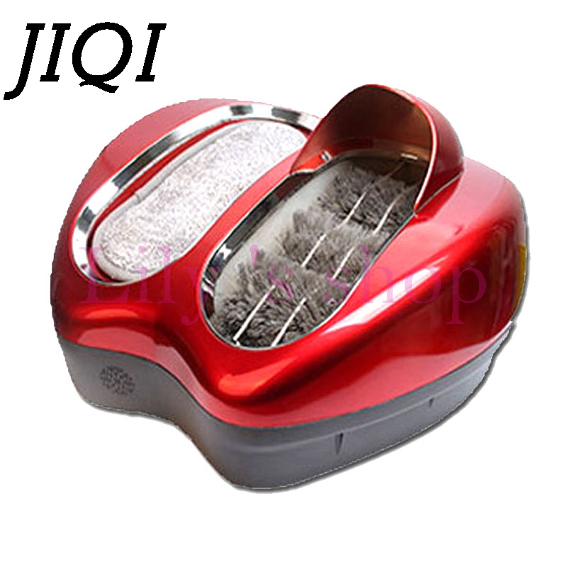 Eelectrical Soles Shoes Cleaner Intelligent Automatic Shoe Polisher shoes cleaning machine soles washing mahine brush EU US plug 1 pc 220v 100w automatic shoe machine utilities electric induction luxurious hall household brush shoes