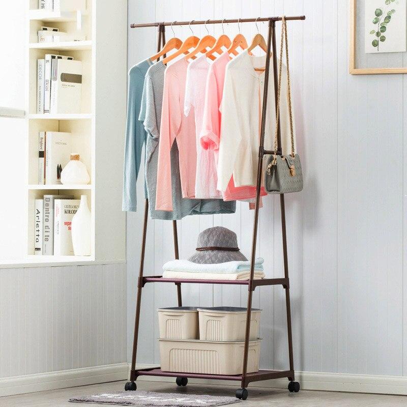 Вешалка нетканых материалов нержавеющая сталь простой сборки может быть удален спальня двигаться треугольники вешалка для одежды, шкаф дл...