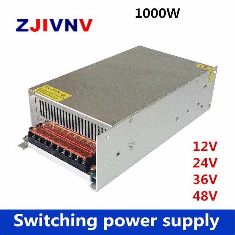 1000W 12V 24V 36V 48V alimentation à découpage pour led, inductry 110/220vac à DC 12v 83A, 24V 41A