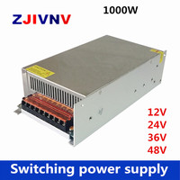 whole sale 1000W 12V 24V 36V 48V switching power supply For led, inductry 110/ 220vac to DC 12v 83A, 24V 41A