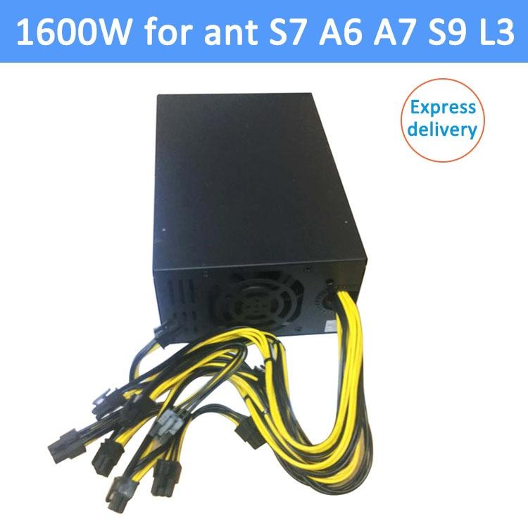 1600W psu Ant S7 A6 A7 S7 S9 L3 BTC miner machine server mins