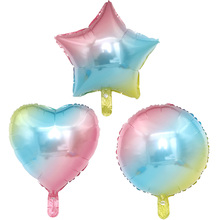 5 шт. 18-дюймовые Радуга обесцвечиваясь и не воздушный шарик из алюминиевой фольги воздушные шары с гелием для свадьбы День рождения украшения globos