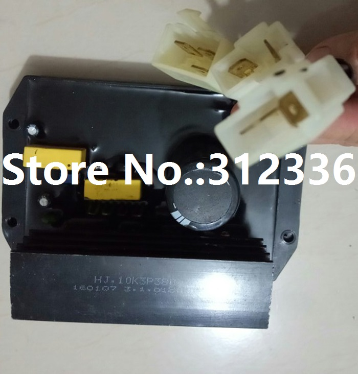 цена на Free shipping HJ.10K3P380 HJ 10K3P380 HJ10K3P380 Three Phase AVR Gasoline Generator 10kW spare parts Automatic Voltage Regulator