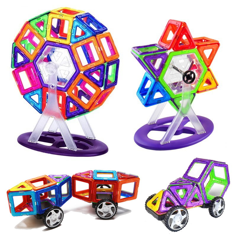 Magnetic Blocks DIY building single bricks accessory construct Magnet model Educational toys For Children Kids birthday gift