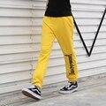 Rowa Gosha Rubchinskiy Pantalones Hombres Skateboard Paccbet Alta Calidad Otoño Chándal Moletom Unisex Hip Hop pantalones de Chándal Basculador de la Llama