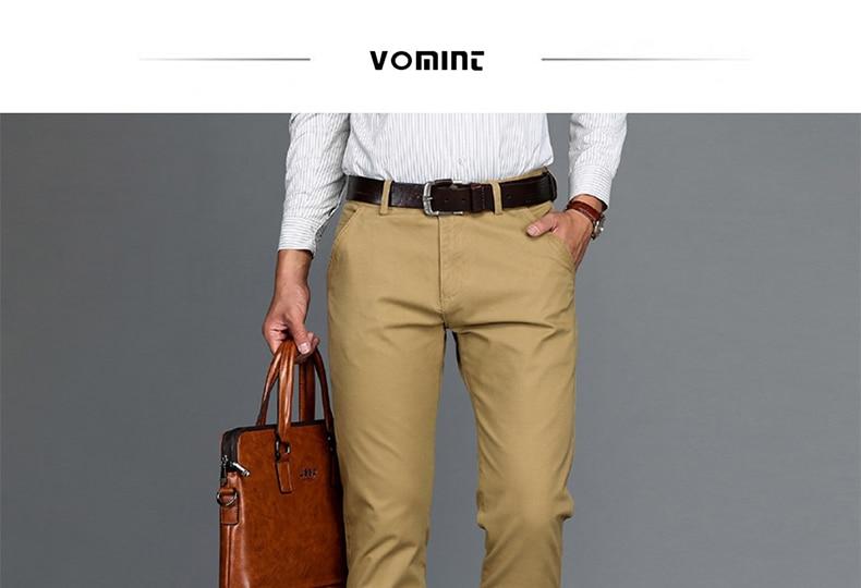 HTB1hqzUmbGYBuNjy0Foq6AiBFXag VOMINT Mens Pants High Quality Cotton Casual Pants Stretch male trousers man long Straight 4 color Plus size pant suit 42 44 46