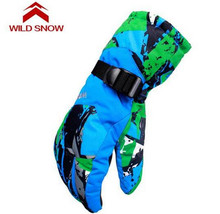 WILD SNOW Women Men Ski Gloves Snowboard Gloves Snowmobile Motorcycle Riding Winter Windproof Waterproof Unisex Snow Gloves