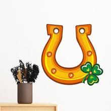 Четырехлистный клевер u образный железный Ирландия День Св Патрика