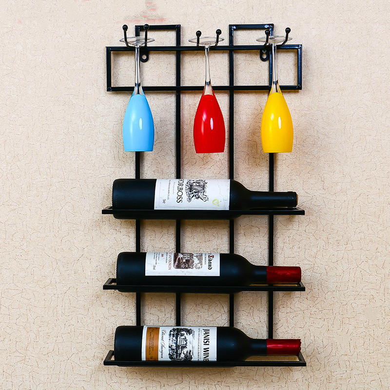 Creative Wall Hangers Hang Wine Racks Red Wine Glass Frame Upside Down the Hanging Wall Wine Tray