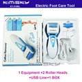 2016 blue waterproof  recharged  tool  Foot Care Exfoliating with roller heads scholls function  box pack  KIMISKY