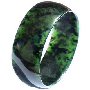 57-62mm / Kai black stone bracelet Dark green health bracelets Widening thickening black bracelet