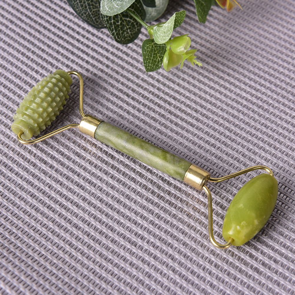 New Arrival Face care Portable Pratical Jade Facial Massage Roller Anti Wrinkle Healthy Face Body Head Foot Nature Beauty Tool