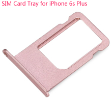 100% Guarantee Original Sim Card Slot Tray Holder Replacement For iPhone 6S Plus 5.5 Inch Gold Silver Gray Rosegold FreeShipping
