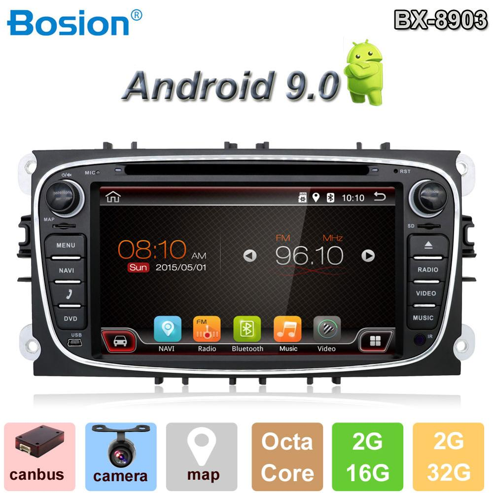 Bosion Car Multimedia Player Android 9 0 GPS 2Din Car DVD Player For Ford Focus S
