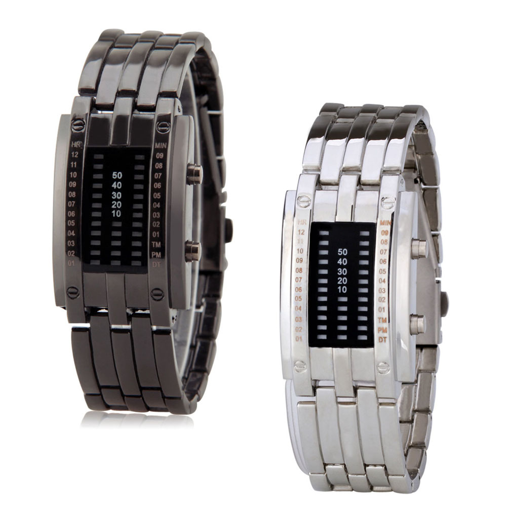 Fashion Lovers Couple Watches Digital LED Display 50m Waterproof Alloy Strap Electronic Watch Men Women Wristwatches @ T все цены