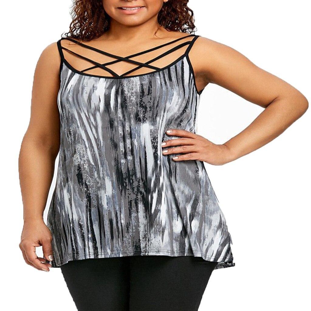 Chamsgend Frauen Sexy Rundhals Digital Print Halfter Gurt T-shirt Top Komfortable Mode Kurzarm Lose T-shirt Top Eine VollstäNdige Palette Von Spezifikationen