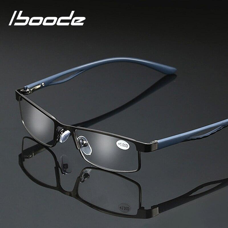 Iboode Retro Alloy Reading Glasses Women Men Unisex Business Prescription Eyewear Rectangle Hyperopia Elder Presbyopia Eyeglases