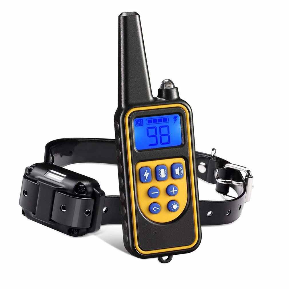 Electric Dog Training Collar Pet Remote Control Waterproof Rechargeable w/ LCD Display for All Size Shock Vibration Sound 880