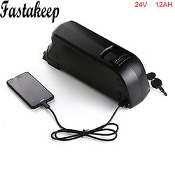 Bez podatków 24V 12AH akumulator litowo-jonowy 5V USB Downtube 24-woltowy akumulator e-bike do silnika 250W z ładowarką i bms