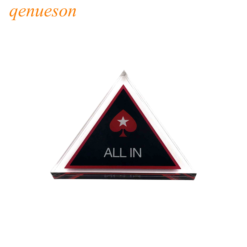 New Baccarat Texas Holdem Poker All In Button Triangle Acrylic All In Button Texas Holdem PokerStars ALL IN Poker Cards Guard