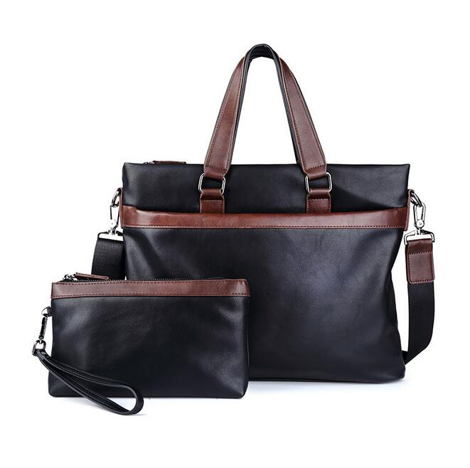 070217 Men Briefcase Document Single Shoulder Cross Body Tote Bag