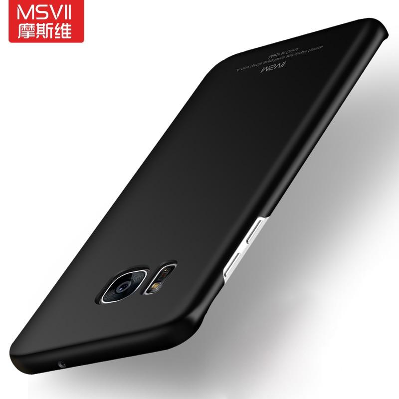 Lujo S8 Más Msvii Delgada Caja de la PC Para Samsung Galaxy S7/S7 Borde Contrapo