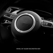 Tcart Steering wheel crystal diamond decoration for audi A1 8X A3 8V A4 B8 A5 8T
